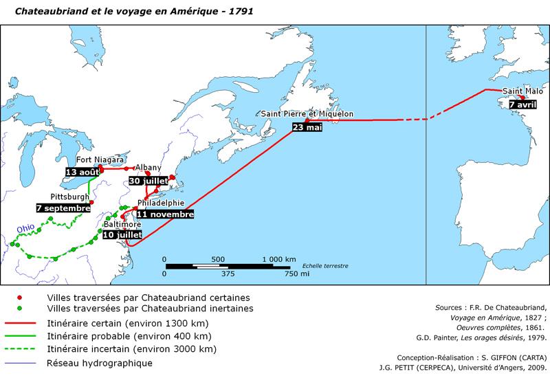 Amérique française de Chateaubriand : voyage et ...