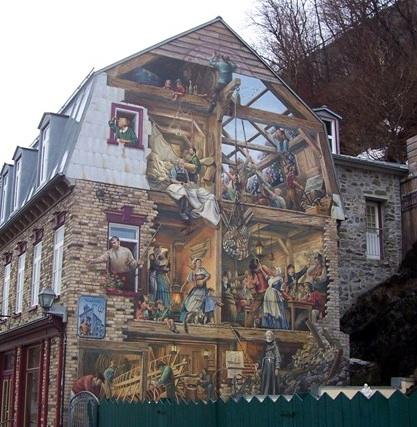 Articles encyclop die du patrimoine culturel de l for Mural quebec city