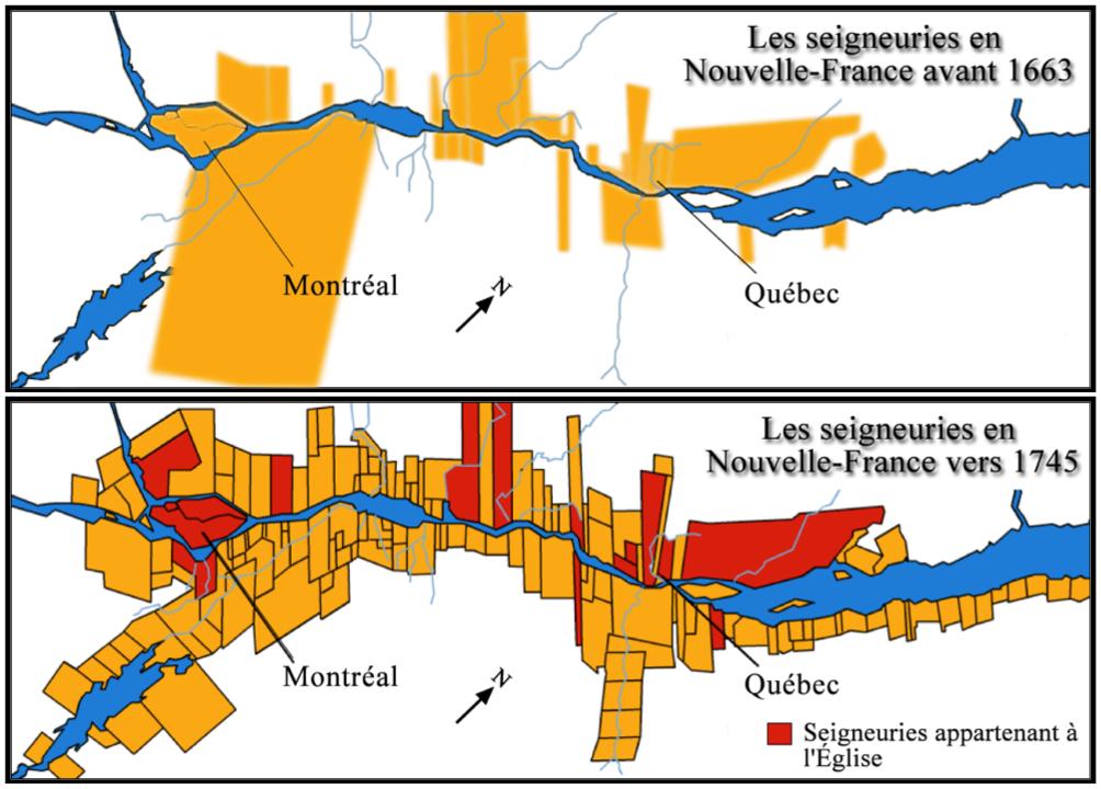 Une seigneurie lors de la Nouvelle-France