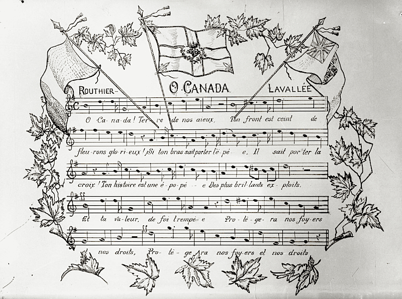 Image result for canada national anthem old and new