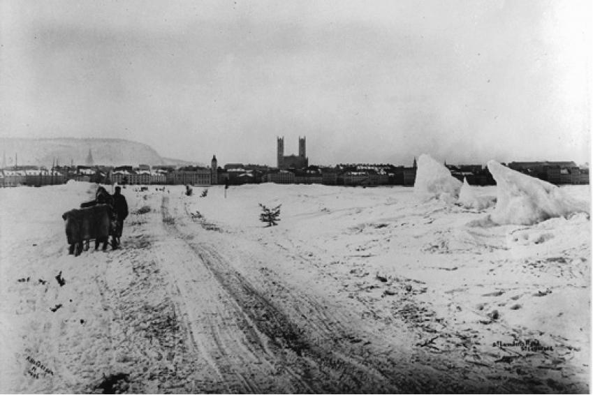 Ponts de glace sur le fleuve saint laurent articles encyclop die du patrimoine culturel de l - Les sainte glace 2017 ...