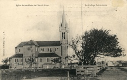 L'église Sainte-Marie en 1908 © Centre acadien, Université Sainte-Anne