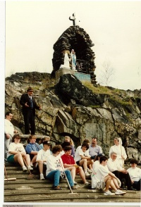 View of the Grotto of Our Lady of Lourdes in Sudbury