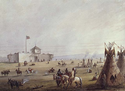 Alfred Jacob Miller, Fort Laramie, 1867. BAC