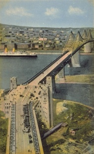 Montreal's Jacques Cartier Bridge, Postcard, BAnQ‎