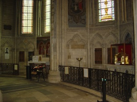 View of the two chapels located in the chancel of Bayeux Cathedral (E. Thierry, 2007)