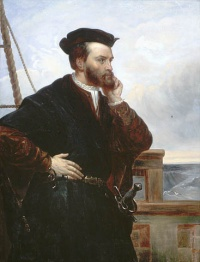 ‎‎ Théophile Hamel, Portrait imaginaire de Jacques Cartier. BAC.‎  Théophile Hamel, Portrait of Jacques Cartier (Imaginary), LAC‎