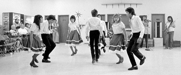 Dancers, Friendship Centre, Dauphin, Manitoba. Photo: Bill Henry