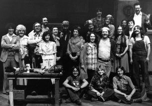 The cast and crew of V'la Vermette, byRoger Auger (1978)