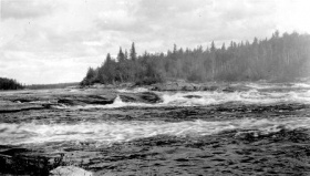 Rapides Island Portage on the Churchill River, 1920, Saskatchewan Archives Board