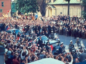 General de Gaulle Arrives at Montreal City Hall, July 24th, 1967. City of Montreal Archives.