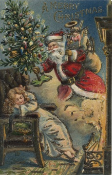 Christmas Greeting Card, 1906. This Type of Card Was Common among the French and English-Speaking Canadian Population. © Library and Archives Canada, Bella Montminy Collection.