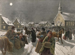 E.-J. Massicotte, Returning from Midnight Mass, 1919.