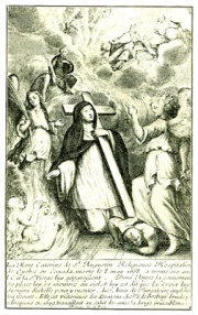Engraving published in Father Ragueneau's book