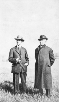 Photo of Herbert and Emile Berliner, circa 1915 (public property)