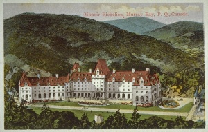 Postcard illustrating Manoir Richelieu. © BAnQ