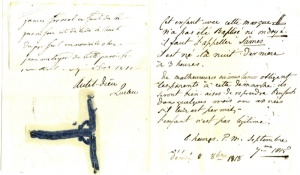 Note accompanying a child left at the turn of the Hôtel-Dieu de Québec monastery on September 7, 1815