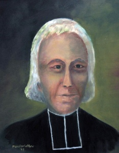 A portrait of Father Sigogne by Maurice LeBlanc, 1999