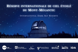 Poster for the International Reserve in Mont-Mégantic