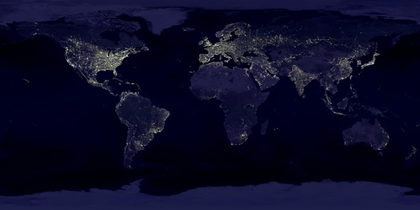 Light pollution in the world