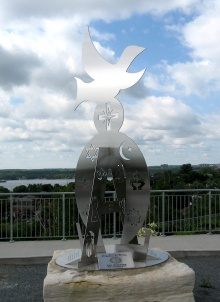 The Alpha and Omega Monument, offered by the Jesuits of Sudbury, 2006