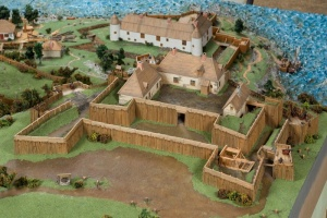 Fort Saint-Louis, from a model of Quebec City showing how it looked in the year 1635