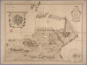Plan du fort Saint-Louis en 1683