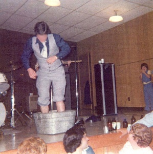 Dancing in a wash basin in Saint-Charles in 1976