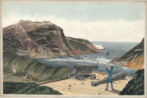 Entrance to St. John's, Newfoundland, as seen from Fort Townsend on August 1st 1824