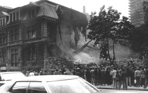 Demolition of the Van Horne Mansion, La Presse, September 10, 1973