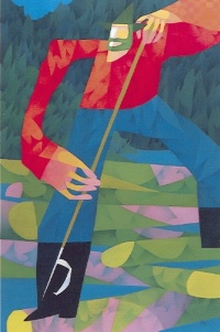 Menaud as seen by painter Claude Le Sauter, 1997