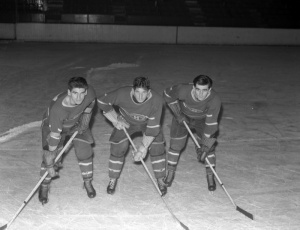 Tony Demers, Elmer Lach, Maurice Richard, Montreal Forum, November 26th, 1942
