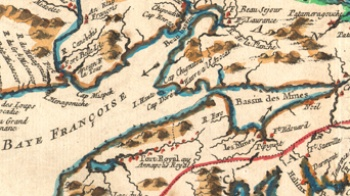 Part of a map of Acadia 1757, CEA