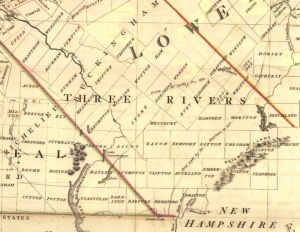 Détail, A New map of the Province of Lower Canada describing all the seigneuries, townships, grants of land, &c...