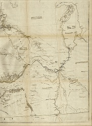 Details of a map showing the route linking Lake Superior to the Red River settlement, 1870