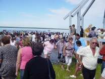 Pilgrimage to Lac Sainte-Anne (during the blessing of the lake). 2007
