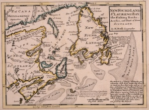Fishing banks off Newfoundland in the Gulf of Saint Lawrence, including Acadia, and a part of Nova Scotia