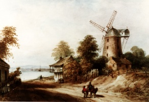William Fleming's milling operation depicted in a watercolour painted by James Duncan in the 1840s.