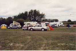 Camping is a tradition at the Fête Fransaskoise. Campers at the 23rd Fête Fransaskoise at the Ferme Champêtre [Rural Farm] close to Saint-Denis in 2002.