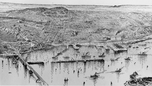 The Port of Montréal in 1889.