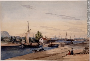 The Lachine Canal, about 1850