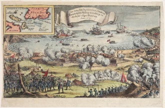 The English Storming Louisbourg, 1745