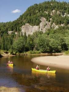 Canoeing on the Diable River