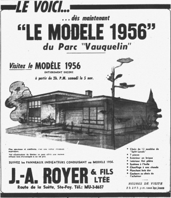Advertisement for developer J.A. Royer