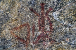 Rock paintings, testimony to the passage of the Algonquins. ©Parks Canada.