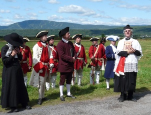 Reenactment of the opening of Chemin du Roy, circa 1740