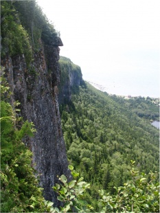 One of the park's steep rock faces