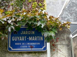 Plaque at the Jardin Guyart-Martin in Tours