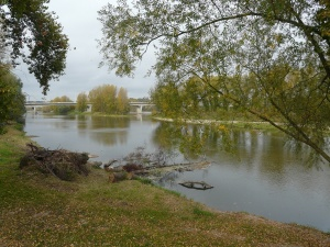 The banks of the Loire, where Marie Guyard used to go before she took vows, when she worked at her brother-in-law's transportation business