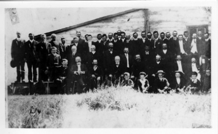 Meeting of the Société Saint-Jean-Baptiste of Wauchope, Saskatchewan, June 27, 1909.
